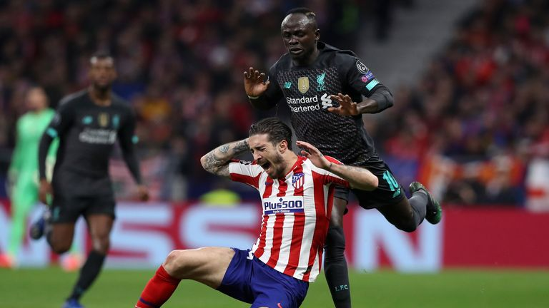 Sadio Mane was withdrawn at half-time before his duel with Sime Vrsaljko yielded a second booking