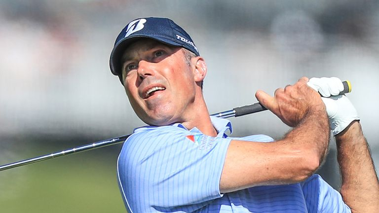 Matt Kuchar stayed on top of the leaderboard