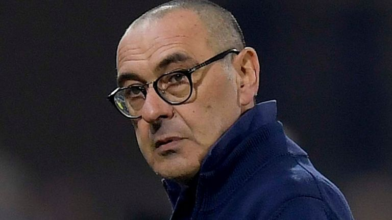 Former Chelsea and Napoli boss Maurizio Sarri is in charge of Juventus