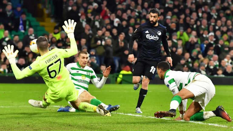Copenhagen knocked Celtic out in the Europa League Round of 32