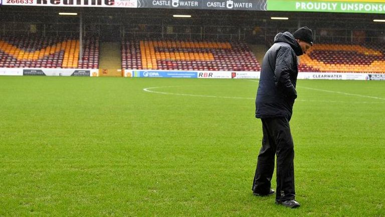 The wet weather also had an impact at Fir Park