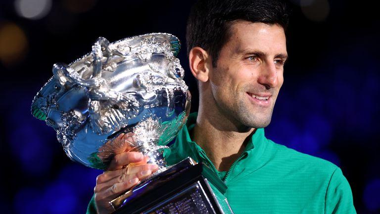 Novak Djokovic won his 17th Grand Slam title at this year's Australian Open