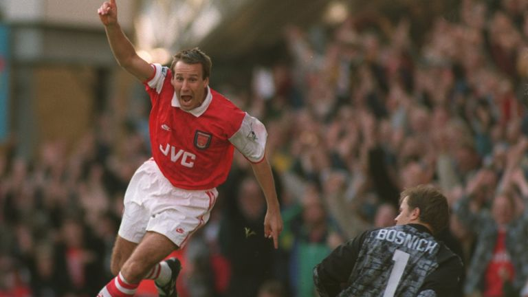 Merson won two titles in his 12 years at Arsenal