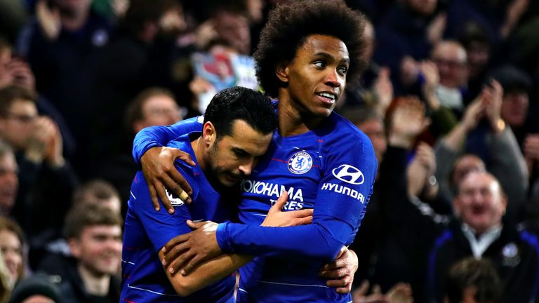 Chelsea stars Pedro and Willian are both out of contract at the end of June