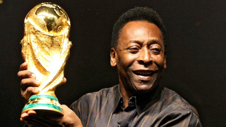 Pele won the World Cup with Brazil three times in his career