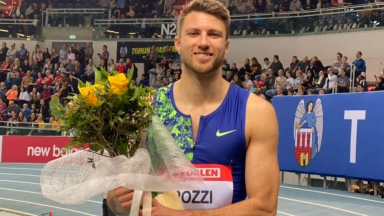 Andrew Pozzi was just one hundreth of a second slower than in Paris (copyright: WorldAthletics)