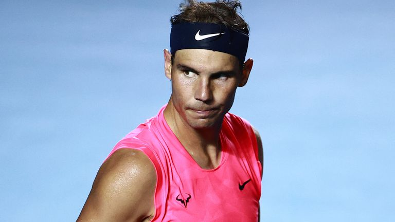 Rafael Nadal pessimistic about return to action before 2021