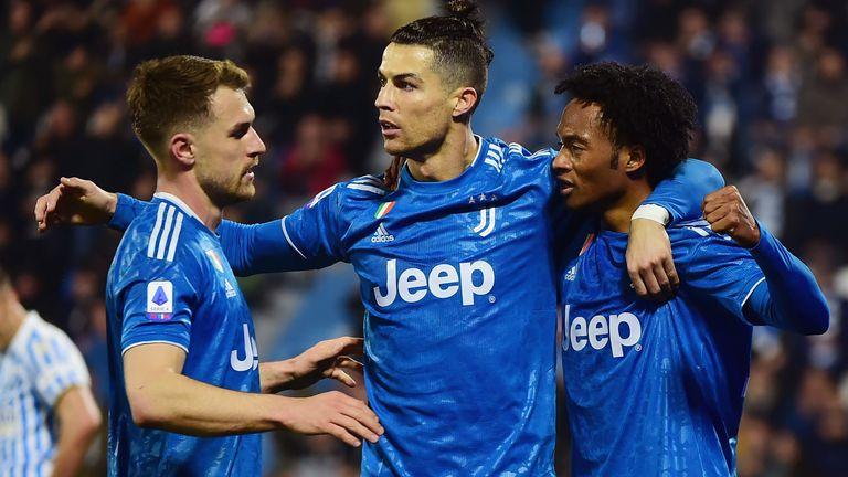 Cristiano Ronaldo scored the opener as Juventus beat SPAL 2-1