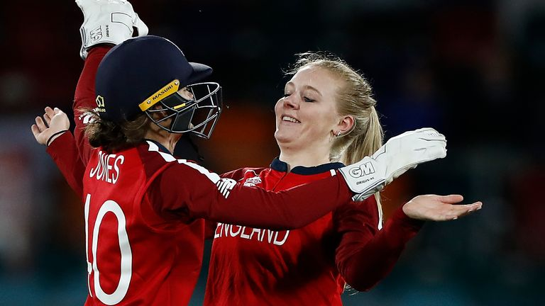 Legspinner Sarah Glenn impressed, claiming career-best figures of 3-15 from her four overs in England's win