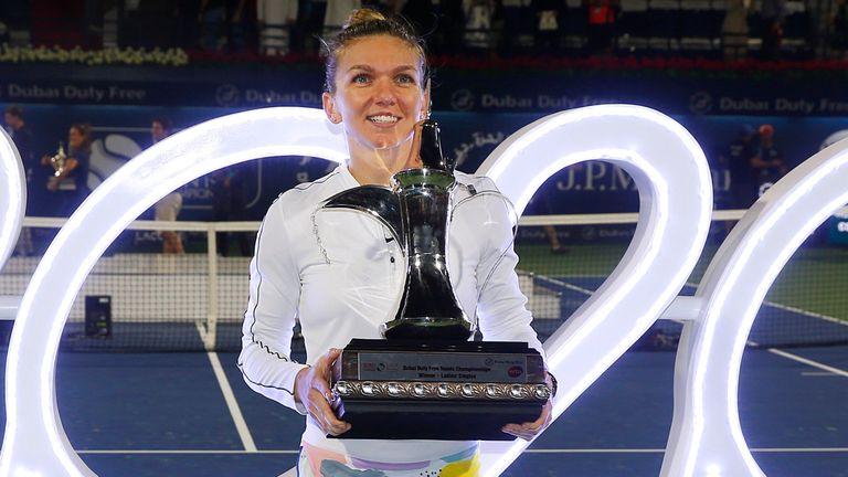 Halep won the Dubai Duty Free Tennis Championships