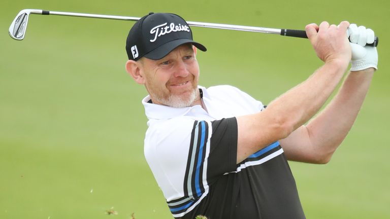 Stephen Gallacher birdied the fifth, seventh, eighth, 12th and 13th during the second round
