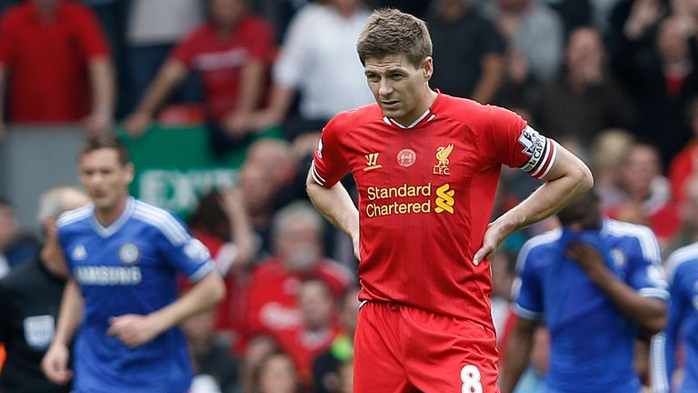 Steven Gerrard was captain of Liverpool when they finished second to Manchester City in 2014