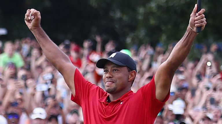 Woods' win at the 2018 Tour Championship was his first for 1,876 days