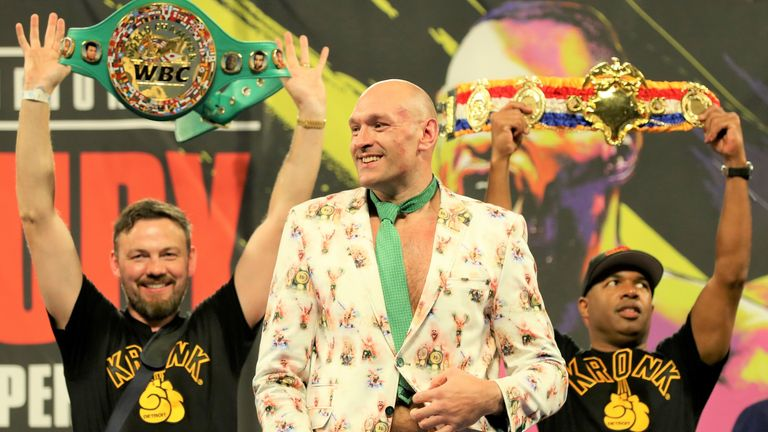 Tyson Fury ripped the WBC belt from Deontay Wilder at the weekend