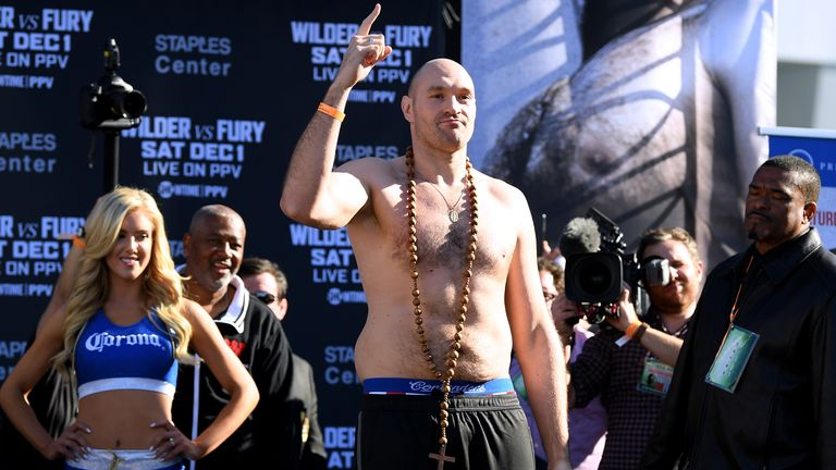 Fury was 18st 4lbs last time against Wilder