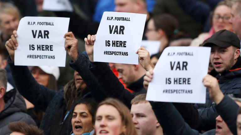 VAR has also been under fierce criticism in the Premier League