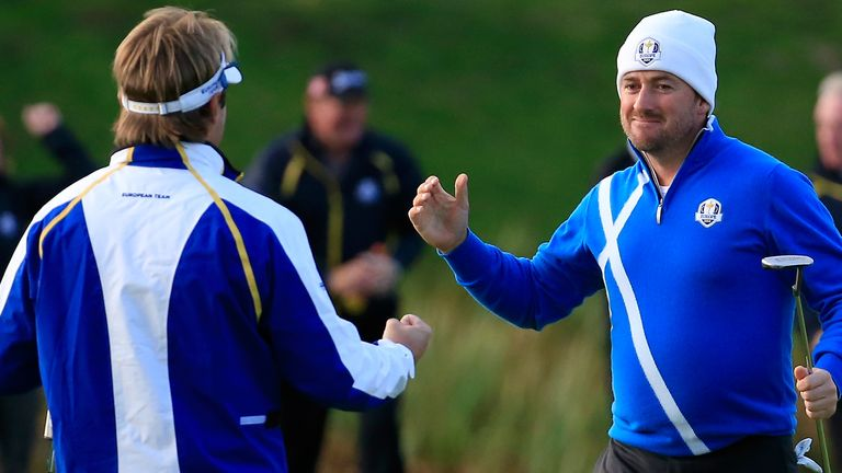Dubuisson and McDowell both finished unbeaten as Europe won 16.5-11.5