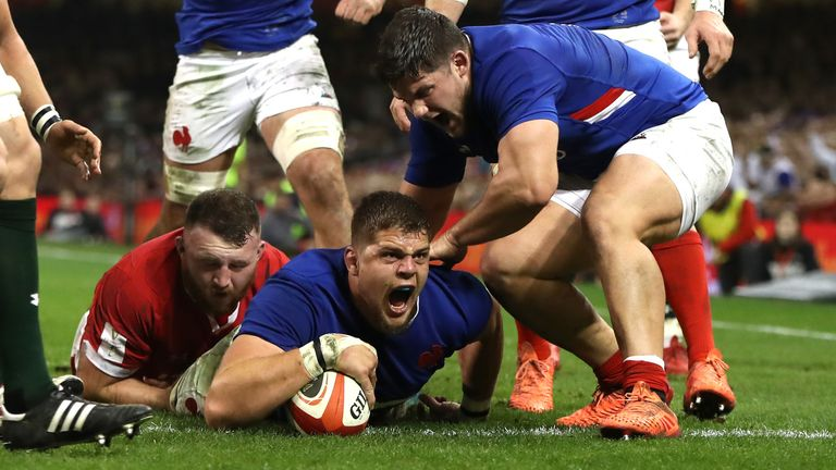 Second row Paul Willemse leapt over for a second first-half France try
