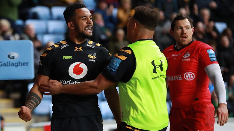 Zach Kibirige scored twice for Wasps at the Ricoh Arena