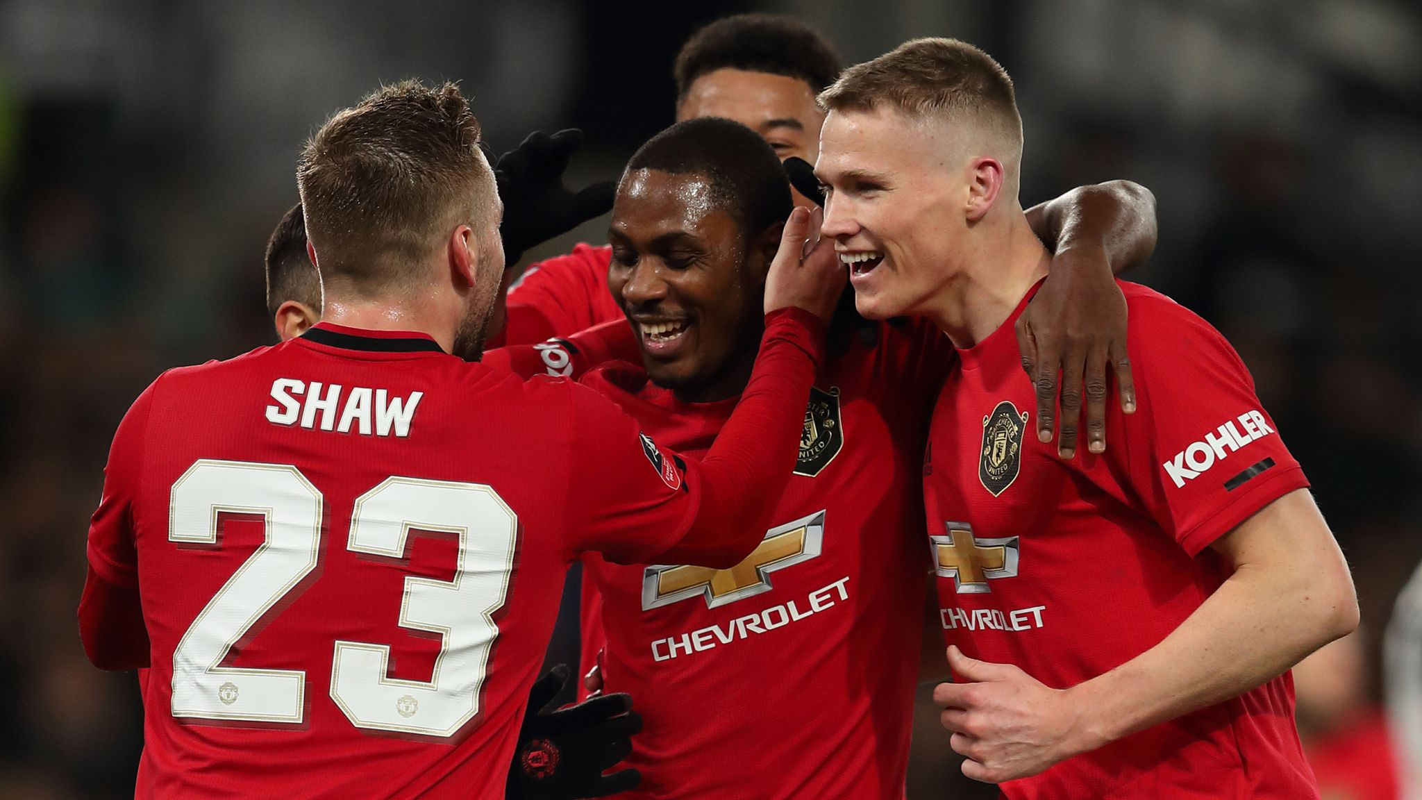 Derby 0 3 Man Utd Odion Ighalo Fires United Into Fa Cup Quarter Finals Football News Sky Sports