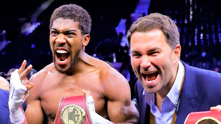 Promoter Eddie Hearn has a contingency plan in place for Anthony Joshua