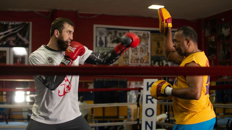 Fury's trainer Sugarhill Steward has been working with Davtaev
