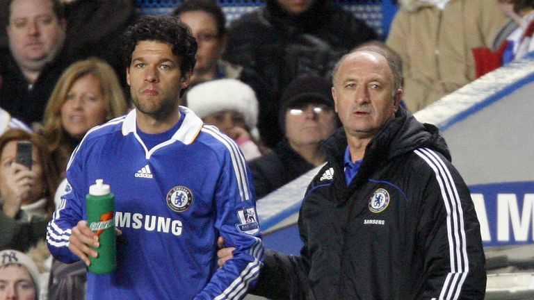 Luiz Felipe Scolari never developed a rapport with the players, according to Ballack