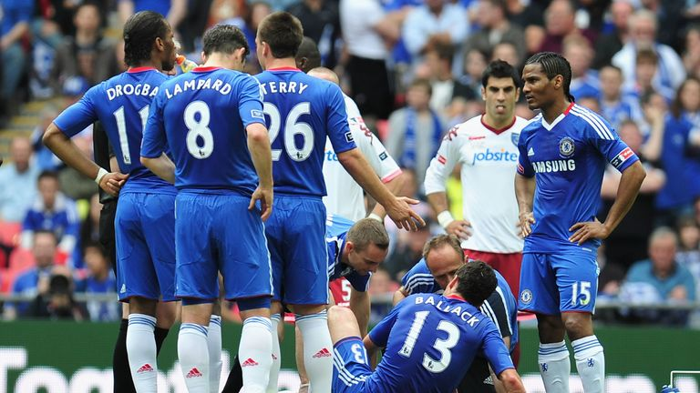 Ballack was injured in his last match for Chelsea, the FA Cup final win over Portsmouth