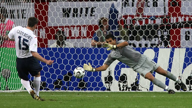 Carragher missed England's fourth penalty in their World Cup quarter-final shootout defeat to Portugal in 2006