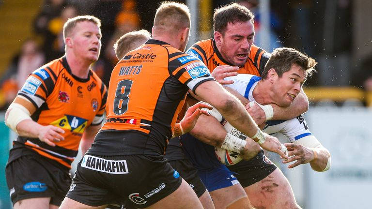 St Helens faced Castleford in the final Super League game before the season was suspended
