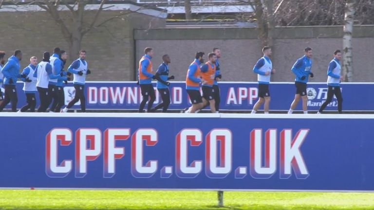 Crystal Palace train at their Beckenham training ground