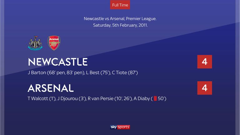 Newcastle 4-4 Arsenal