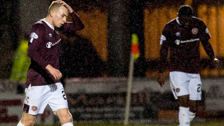 Hearts were four points adrift at the foot of the Premiership when the season was suspended