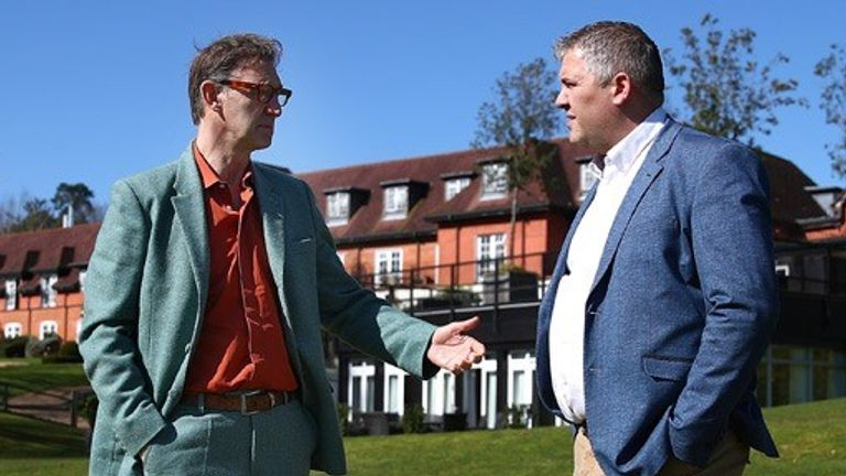Tony Adams, founder of Sporting Chance, with Ian Thomas, director of the Professional Cricketer'sTrust