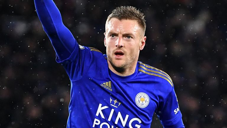 Jamie Vardy was in the goals as Leicester thrashed Aston Villa before football's shutdown