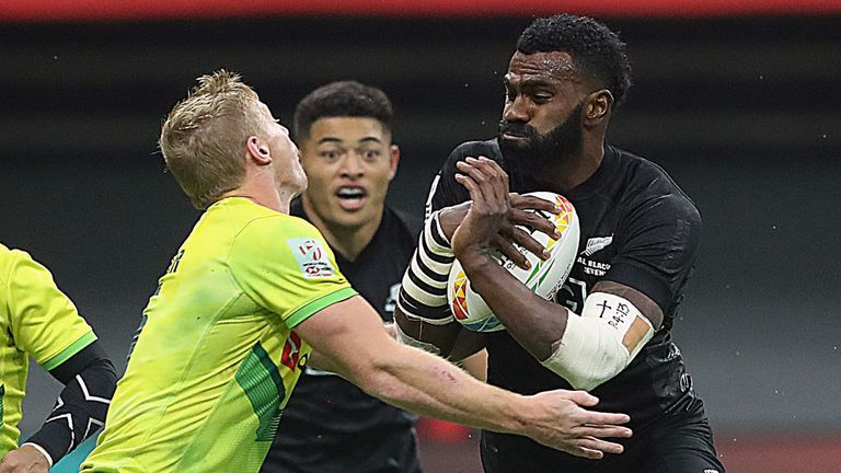 Joe Ravouvou ran in two tries as New Zealand secured another sevens title