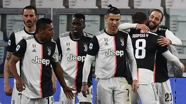 Juventus players including Cristiano Ronaldo are set to return to team training