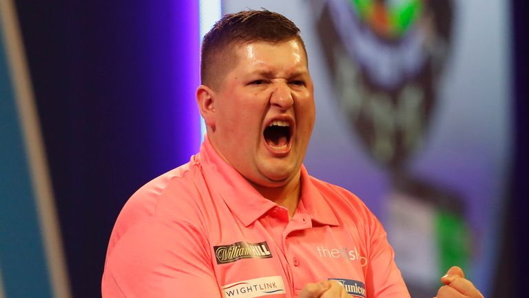 Keegan Brown combines his love of darts with work as a blood-science lab assistant