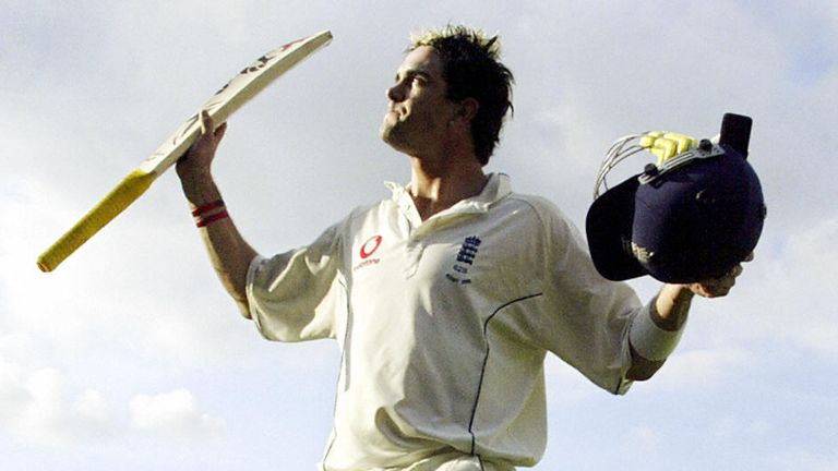 Pietersen walks off after his century in the 2005 Ashes Test at The Oval