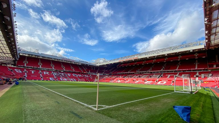 Manchester United's Old Trafford has the biggest domestic club capacity in England at 74,8789