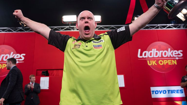 Michael van Gerwen won the UK Open in 2020 - the third time in the last six years he has claimed the 'FA Cup of Darts'