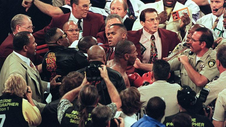 Police failed to restrain Tyson inside the ring