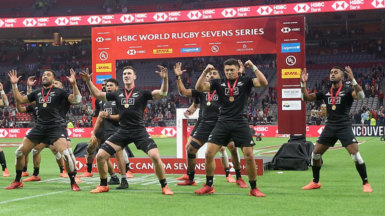 New Zealand perform the Haka after defeating Australia