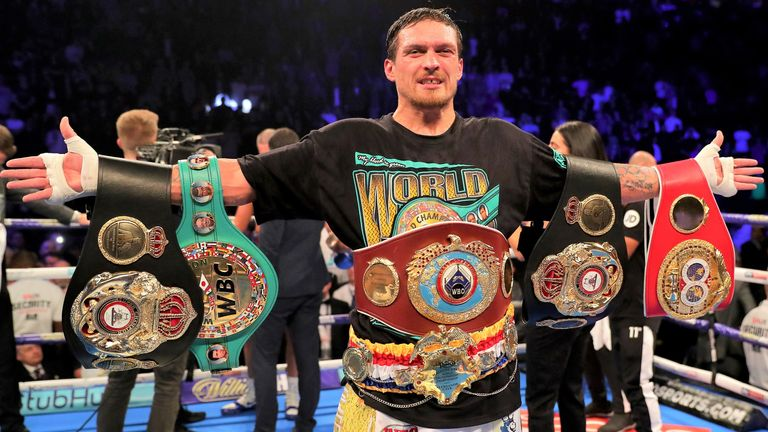 Oleksandr Usyk has lined up a future fight for Joshua's WBO belt
