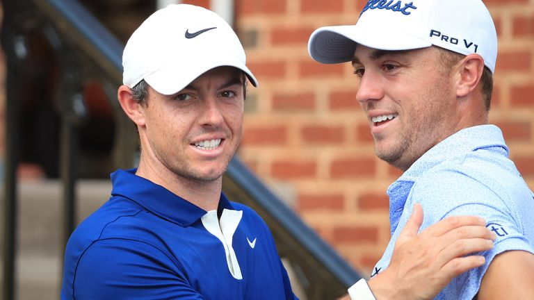 Rory McIlroy is out with Justin Thomas in the penultimate group