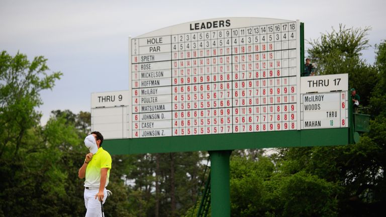 McIlroy's highest finish at The Masters was fourth in 2015