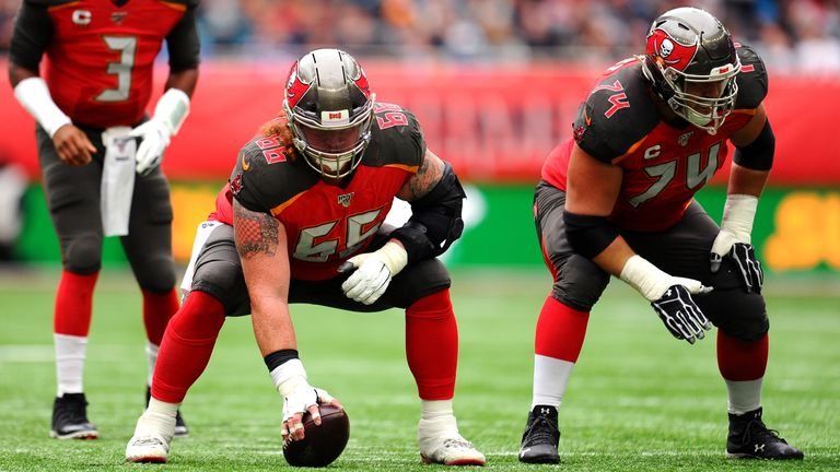 Bucs center Ryan Jensen was sixth round pick by the Baltimore Ravens in 2013