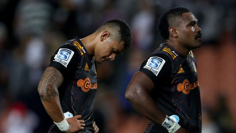 Solomon Alaimalo and Pita Gus Sowakula look on after losing to the 'Canes