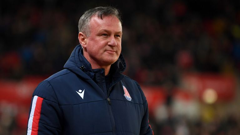 Michael O'Neill was named Stoke boss in early November
