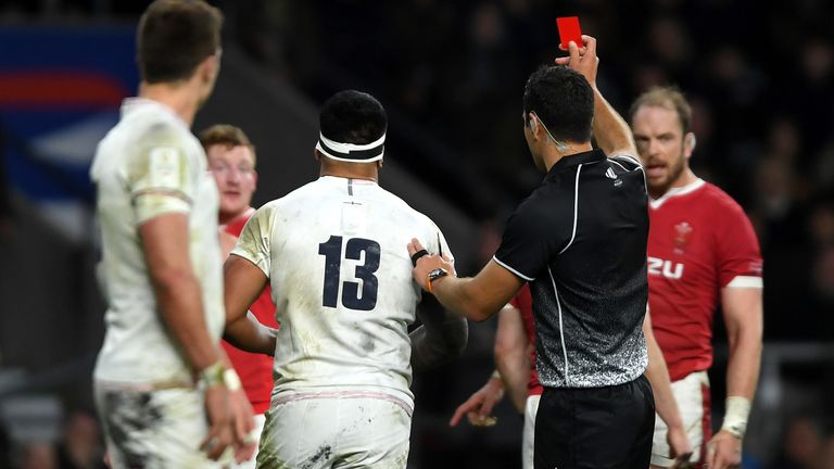 Wales could not add further points until Manu Tuilagi was sent off